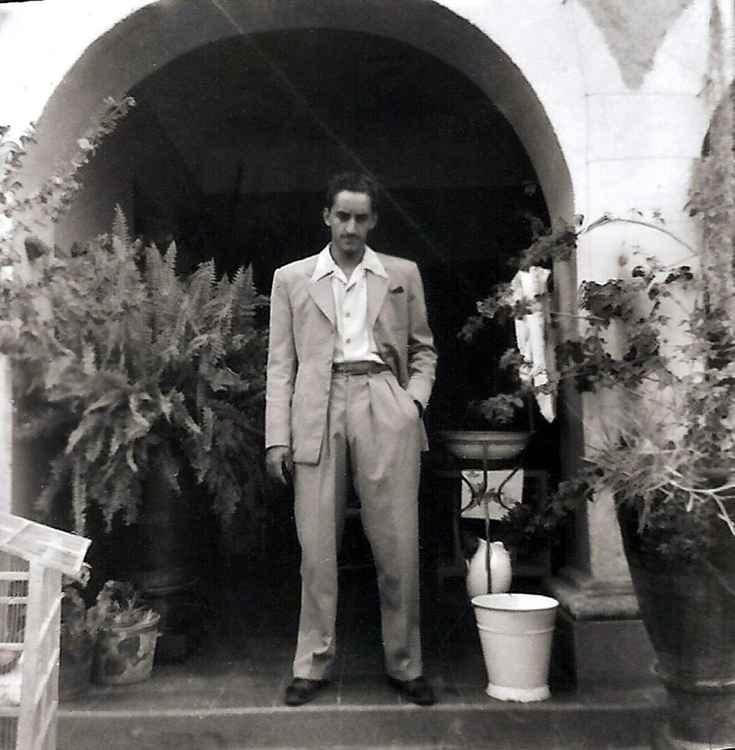 Pedro en el Zaguán, c. 1956 • Herminio Lopez, Foto Estudio Viena • Ltd Edit. Silver Rag Print