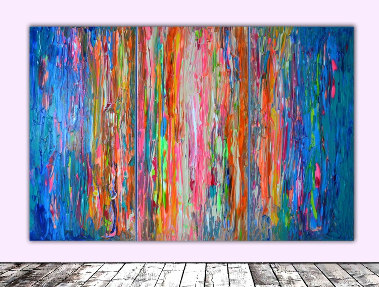 Gypsy's Freedom - 100x150 cm - FREE SHIPPING - Big Painting XXL - Large Abstract, Huge, Gigantic Painting - Ready to Hang, Hotel Wall Decor - Image 0