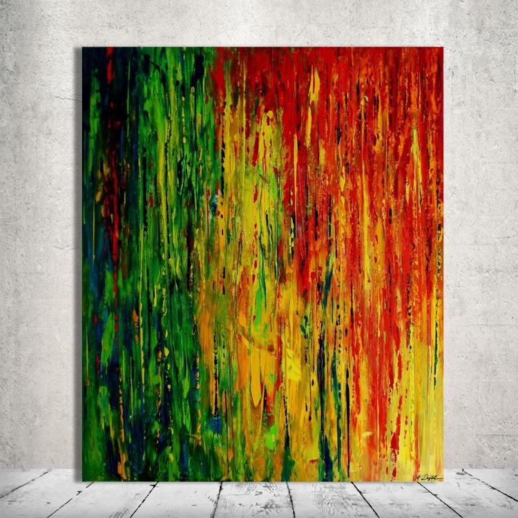 Rainbow Rain (100 x 120cm) - Image 0