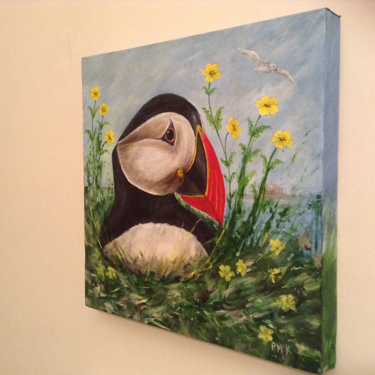 Puffin In The Buttercups - Image 0