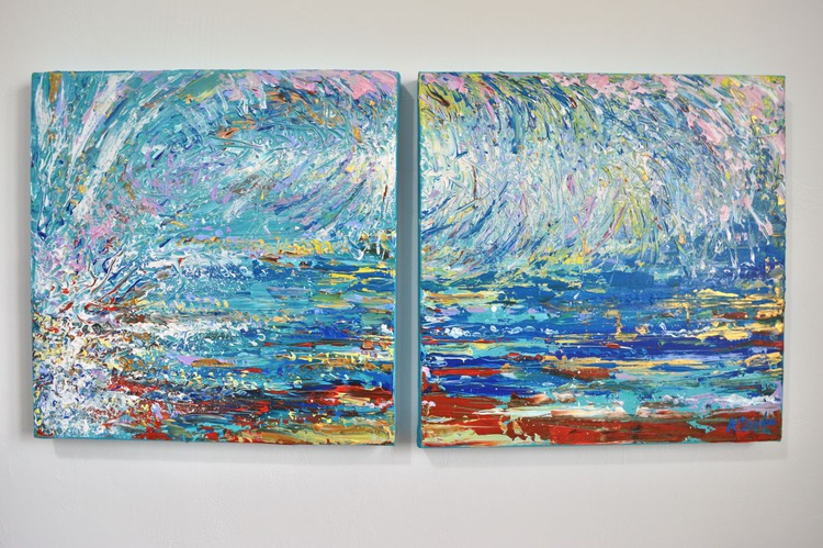 Blue Wave (Diptych) - Image 0