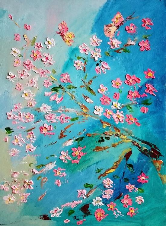 Sakura branch and butterflies - Image 0