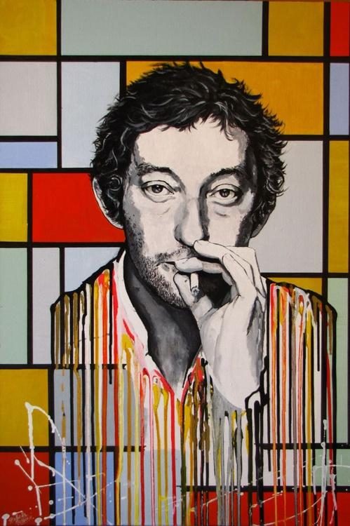 """ Serge Gainsbourg Melting on a Mondrian Painting"" - Image 0"