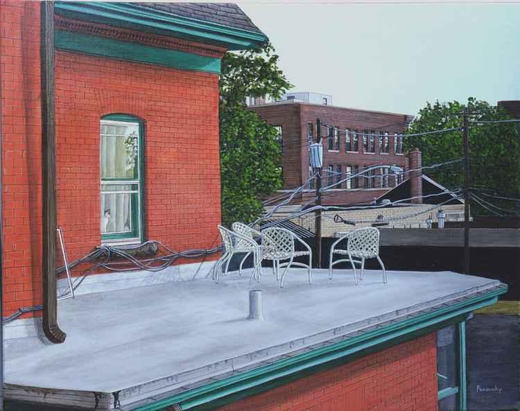 Buffalo NY rooftop -