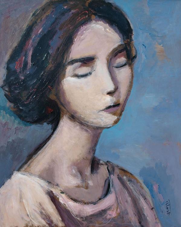 Spring flower (III) ~ woman portrait, figure study - Image 0