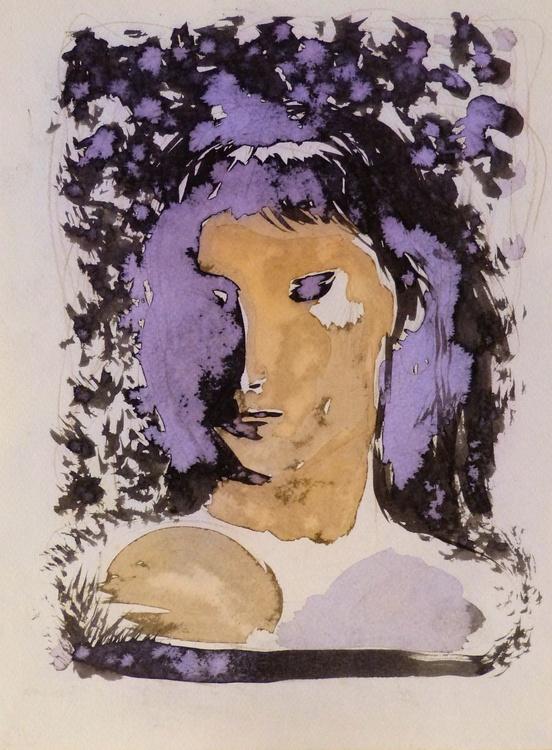 Leafy Portrait, 24x32 cm - Image 0