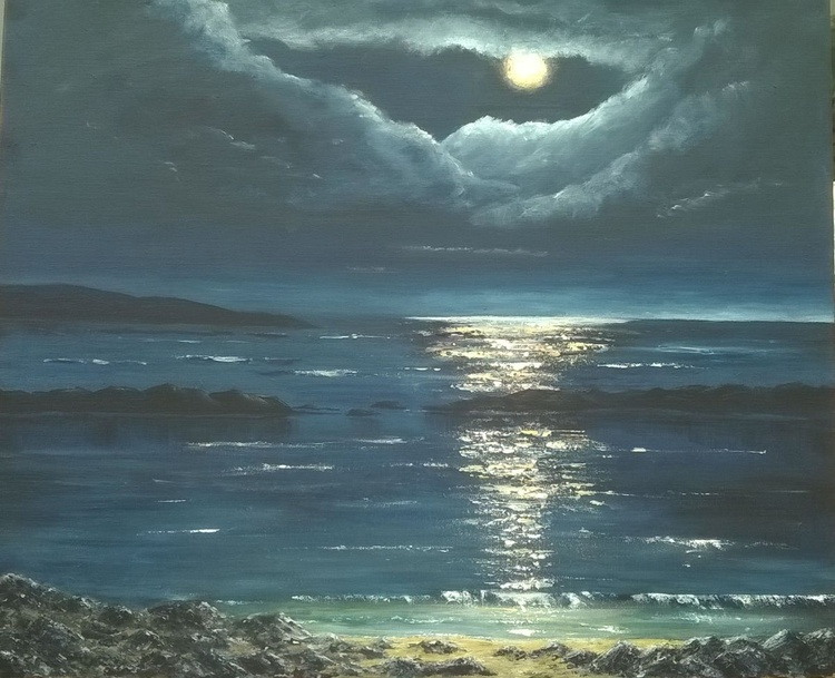 Moonlight Over Mossyard, Dumfries and Galloway - Image 0