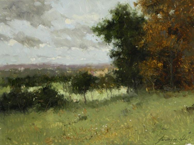 Cobalt summer Original oil Painting - Image 0
