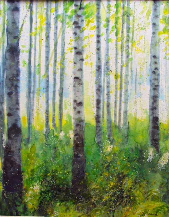 Spring, Silver Birches - Image 0