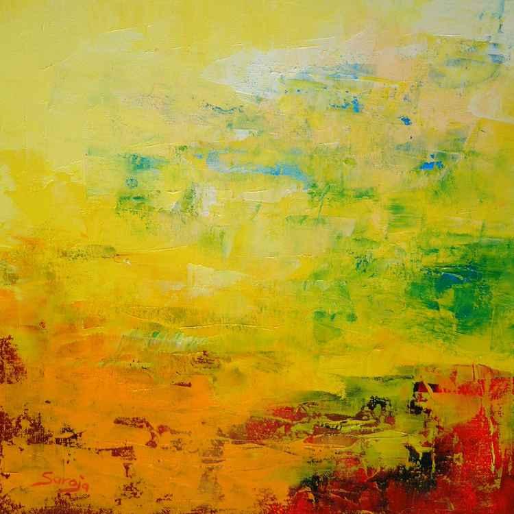 Yellow landscape I (ref#:716-35Q) -