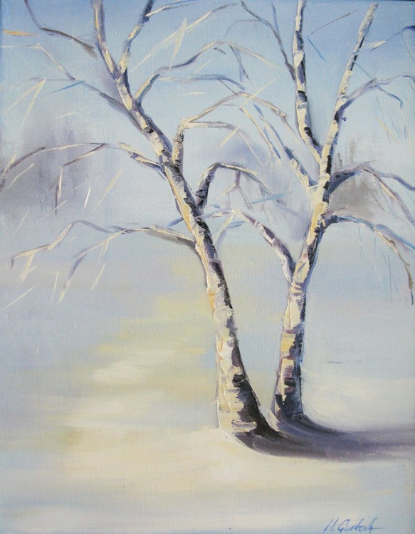 Winter landscape with birch trees - Image 0