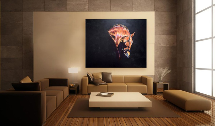 Majestic / Horse painting / X Large/ Modern Equine Contemporary - Image 0