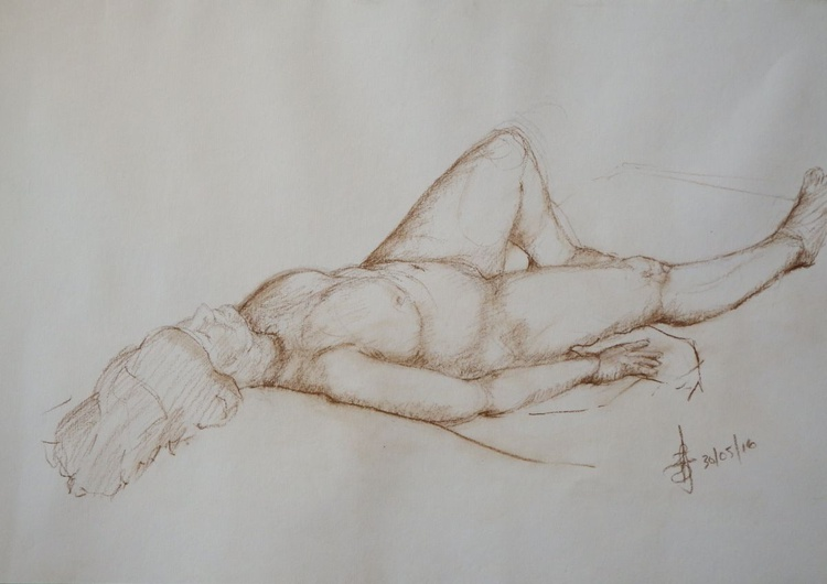Reclining Woman - Image 0