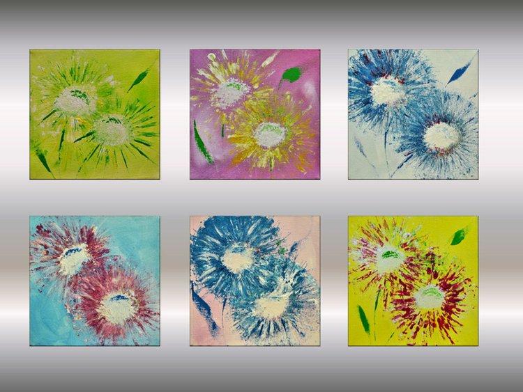pusteblumen abstract flower painting paintin artfinder