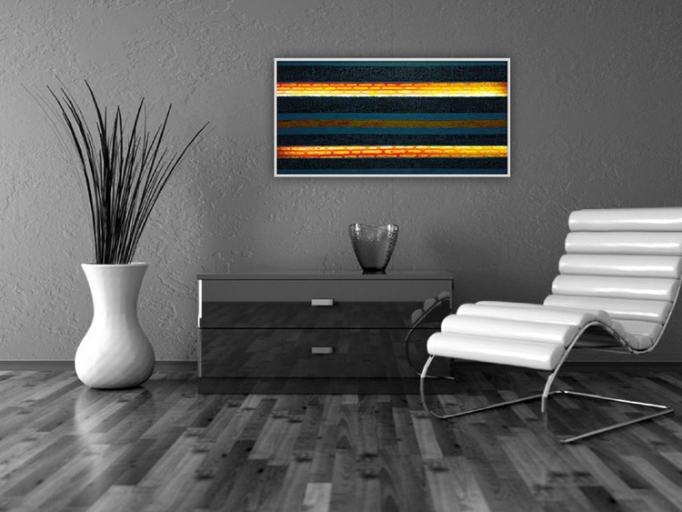 Puerto Rico - Large structural painting- free shipping - Image 0