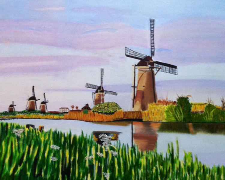 Windmills at Kinderdijk (Netherlands)
