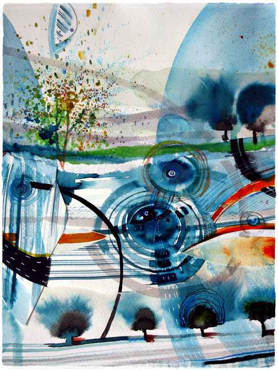 landscape abstract watercolour original