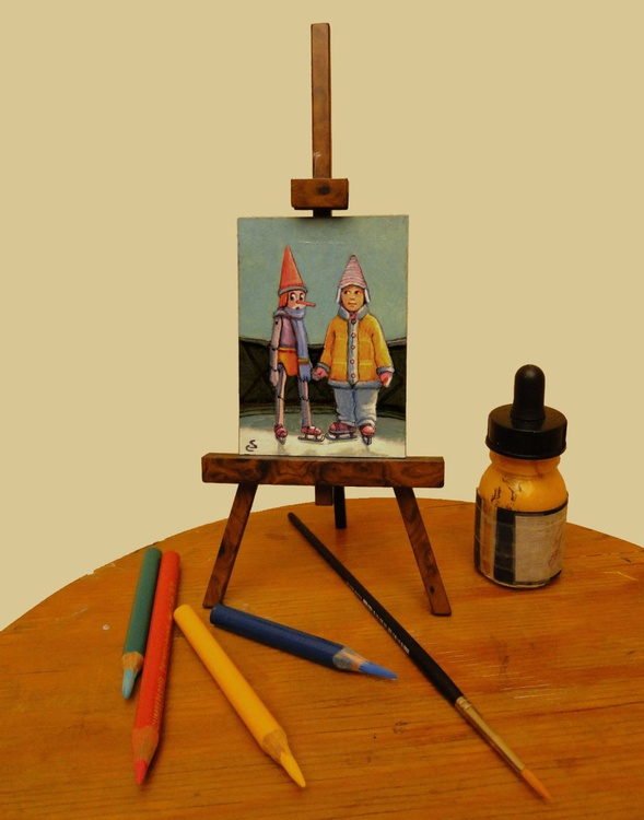 SOUVENIR PHOTO - Mini Painting - - Image 0