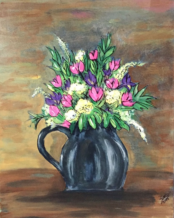 Bouquet of pinks and purples - Image 0