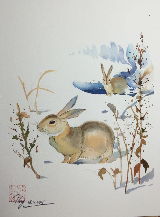 Snow and Rabbits - Image 0