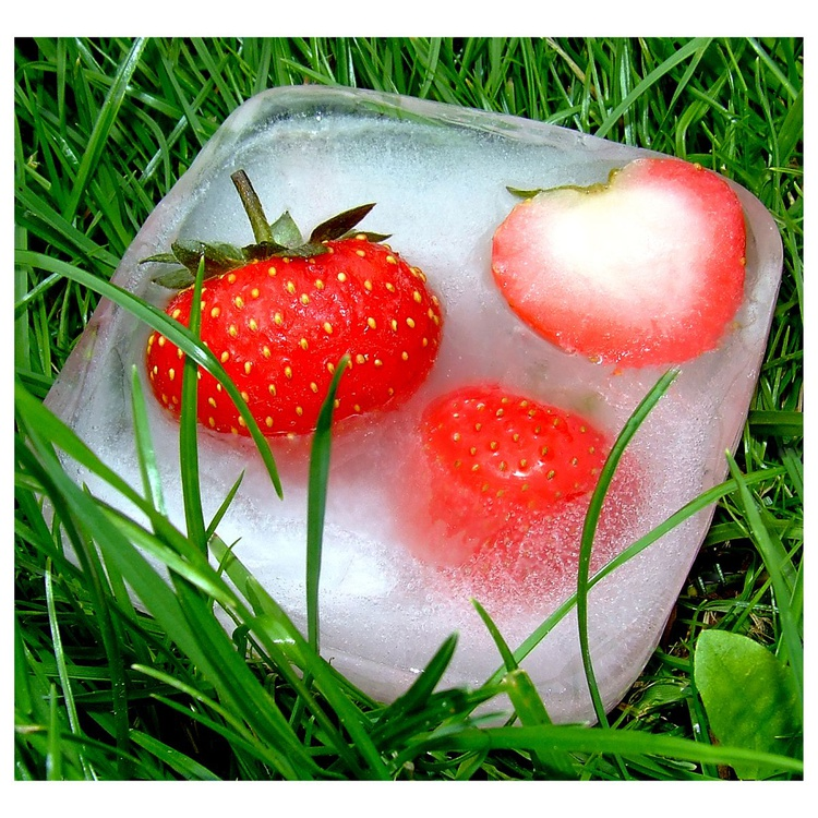 """FROZEN STRAWBERRIES  (Limited edition  1/200) 8""""X8"""" - Image 0"""