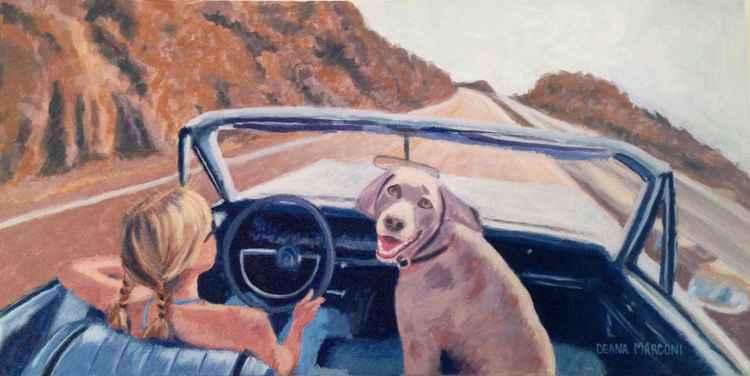 Weenie Taking a ride -