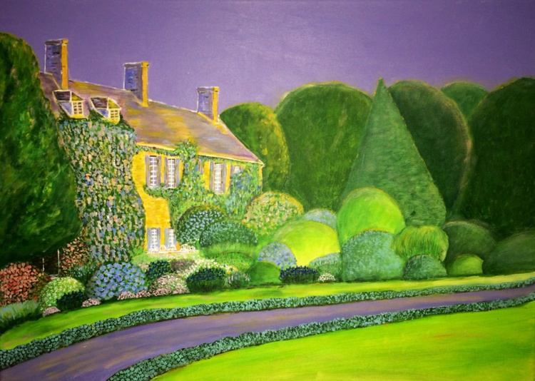 BLUE GARDEN 51 - FRENCH CUISINE - SEE WHY THE SKY IS PURPLE ON SECONDARY PICS. - Image 0