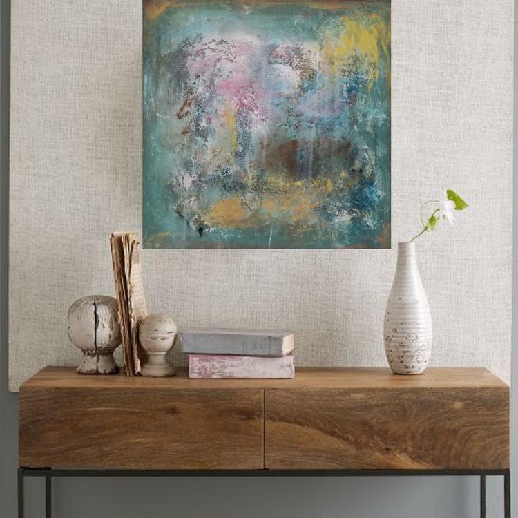 24x24''(60x60cm), Fearless 2, Landscape Modern Urban Art Office Art decor Home Decor - Image 0