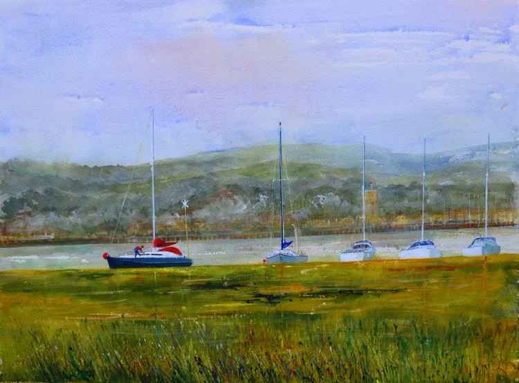 Yarmouth Harbour from Keyhaven -