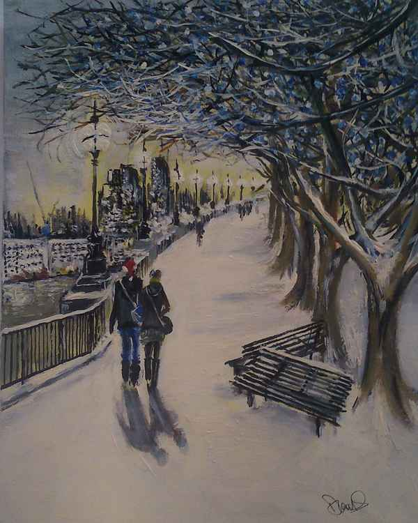 London in winter -