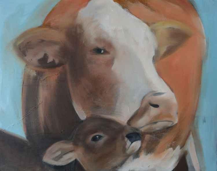 Baby bull's mum