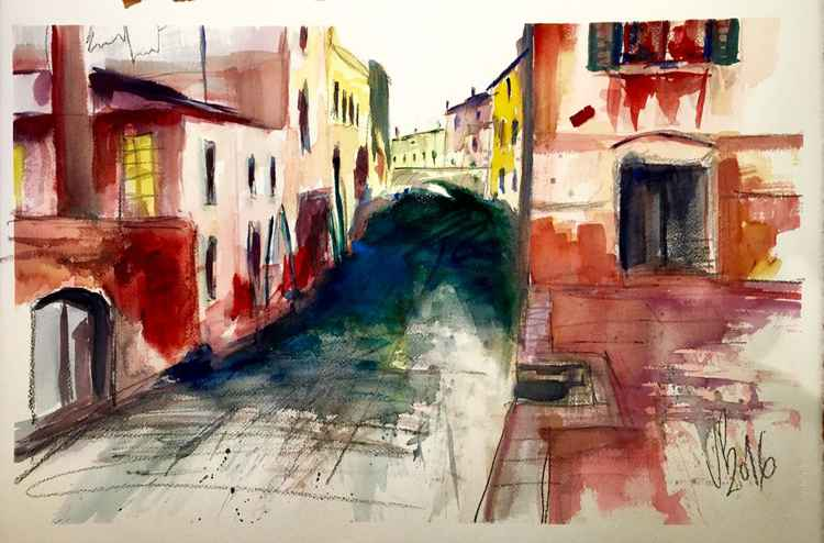 Venice Canals II Watercolor 57x37cm