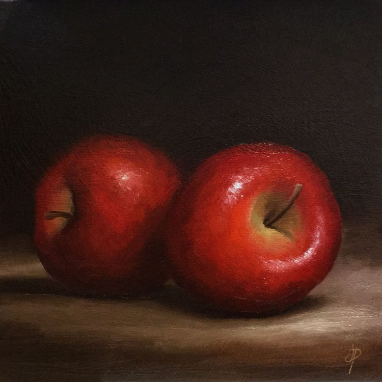 Two  Red Apples - Image 0