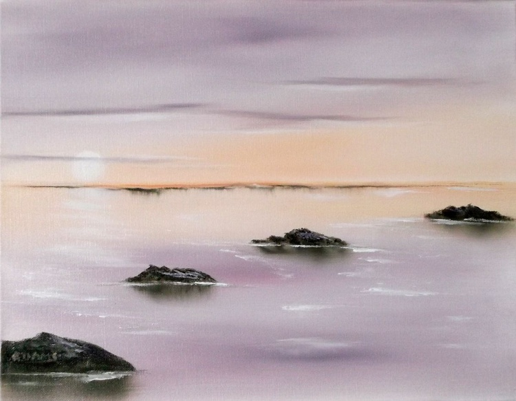 Peaceful Seascape with Reflected Rocks. - Image 0