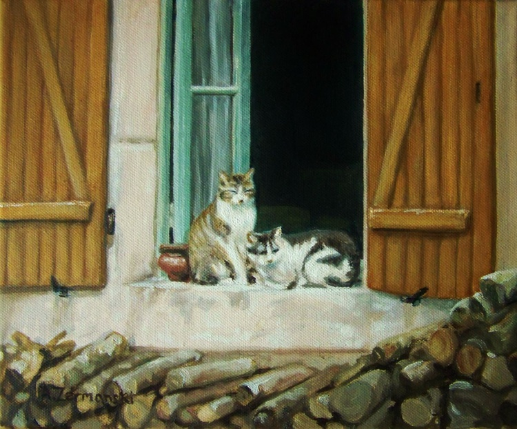 Two French Cats - Image 0