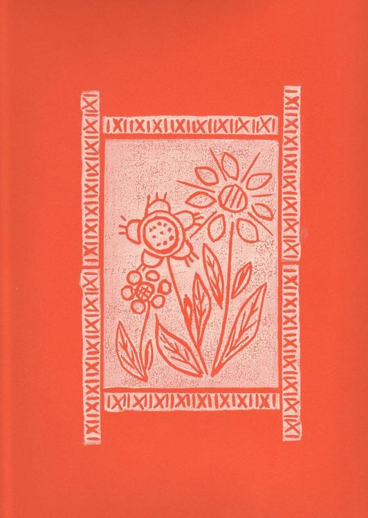 Three flowers with border - Print 5 - Image 0