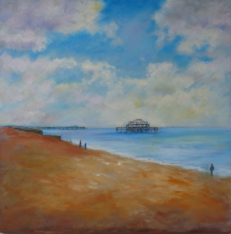 A Cloudy day on Brighton Beach - Image 0