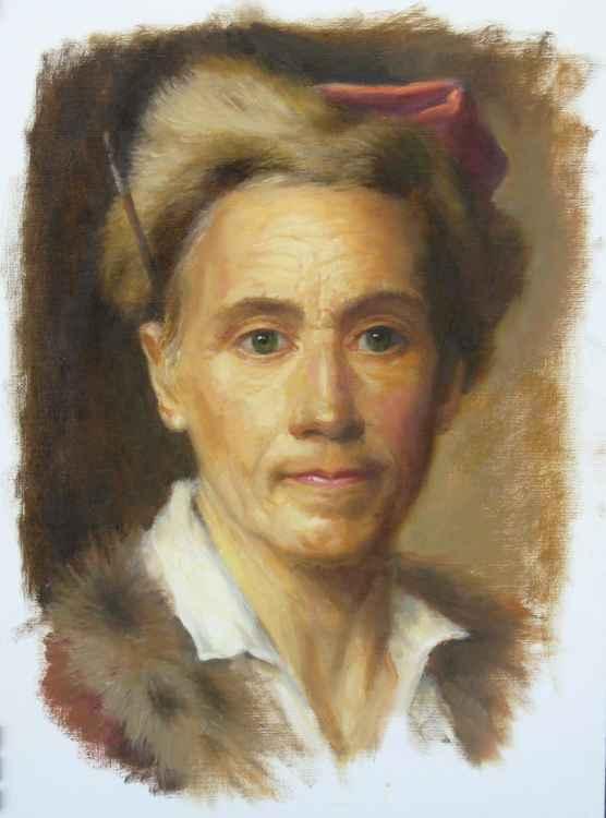 After Christian Seybold's Self Portrait