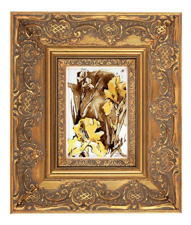 'British garden. Yellow Irises' - Image 0