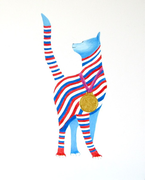 Gold Medal Cat - Image 0