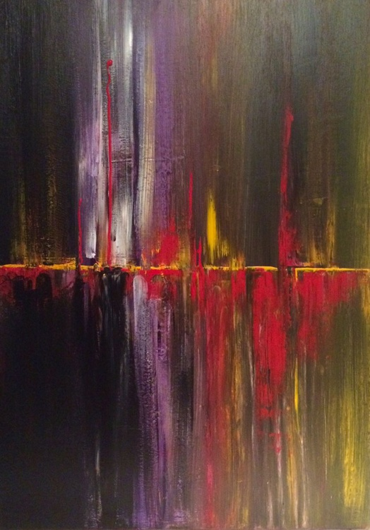 """""Sonora""""    -       Abstract Acrylic Painting , - Image 0"