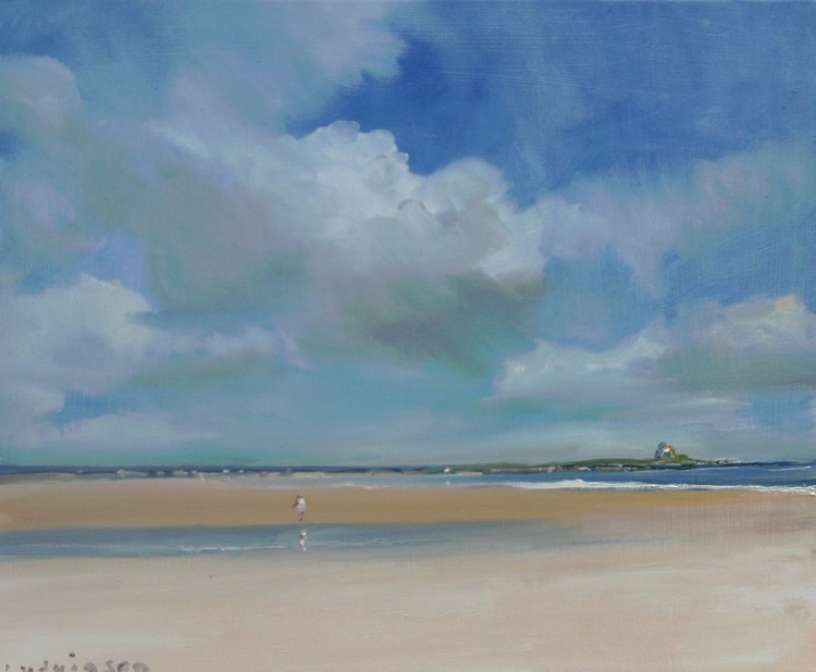 Ross Sands on the Northumberland Coast. - Image 0