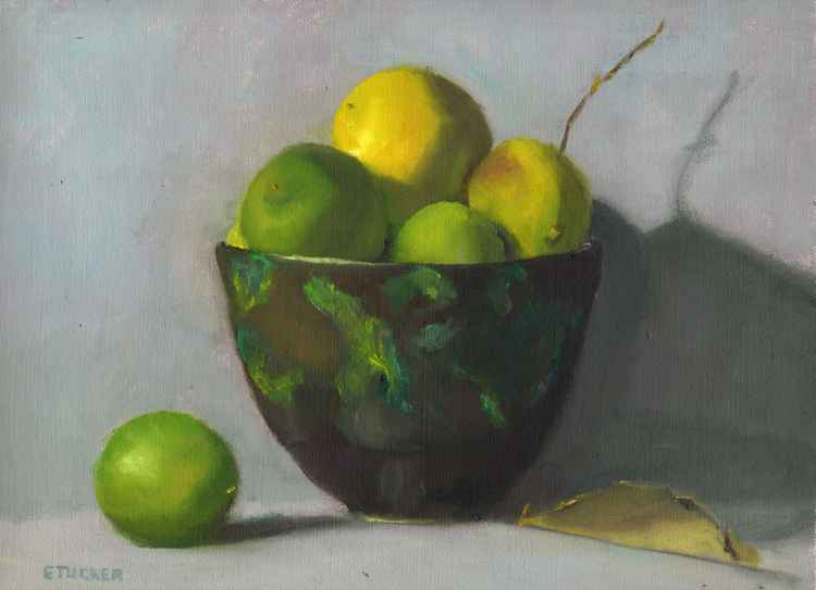 Limes in Bowl -