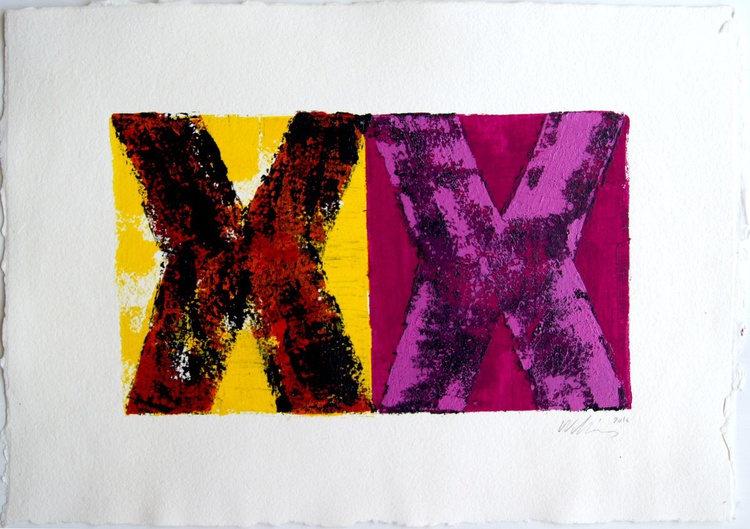 XX, pink,red,yellow,black - Image 0