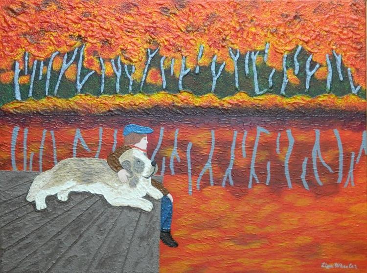Autumn Splendor -  Original, unique, impressionist figurative landscape - Image 0