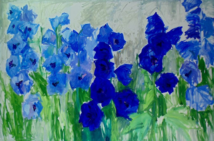 Blue flowers. - Image 0