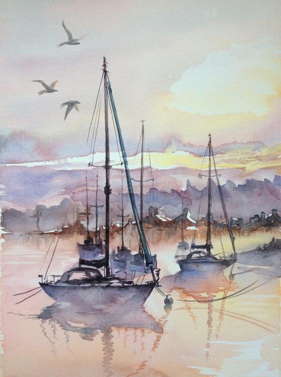 Morriña.  Port. Dawn. - Image 0