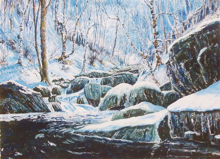 Padley Gorge Winter Sun - Image 0