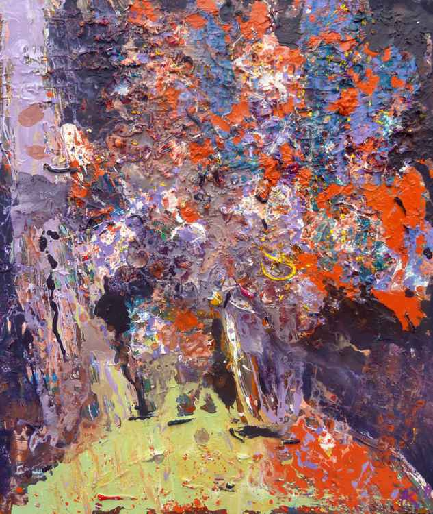 Autumn bouquet of flowers, oil painting 60x70 cm