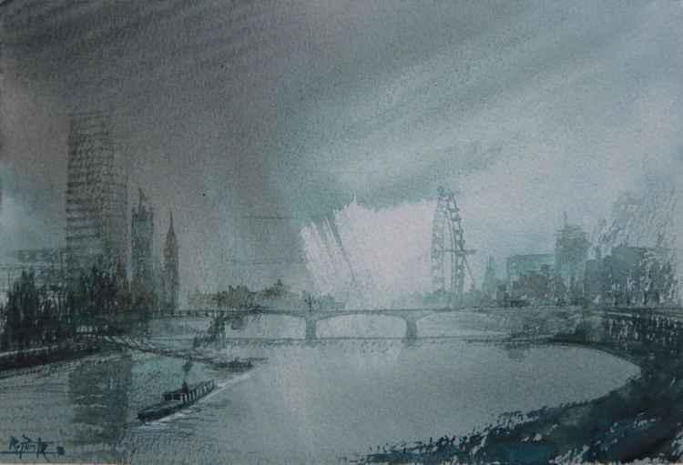 London, River Thames, Vauxhall bridge